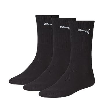 Puma Sports Socks Unisex Crew (3 Pair Pack), Black, 35-38