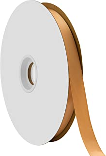 """product image for Offray Berwick 5/8"""" Single Face Satin Ribbon, Old Gold Yellow, 100 Yds"""