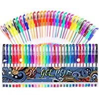 Gel Pens 30 Colors Gel Marker Set Colored Pen with 40% More Ink for Adult Coloring Books Drawing Doodling Crafts Scrapbooks Bullet Journaling