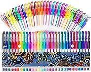 Gel Pens 30 Colors Gel Marker Set Colored Pen with 40% More Ink for Adult Coloring Books Drawing Doodling Crafts Scrapbooks