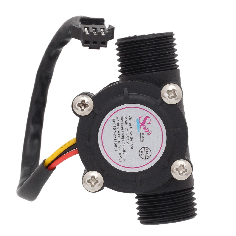 Pinzhi 1/2 Caudalímetro de Efecto de Control de Flujo de Agua Hall 1-30L / min Para Arduino Nuevo: Amazon.es: Bricolaje y herramientas