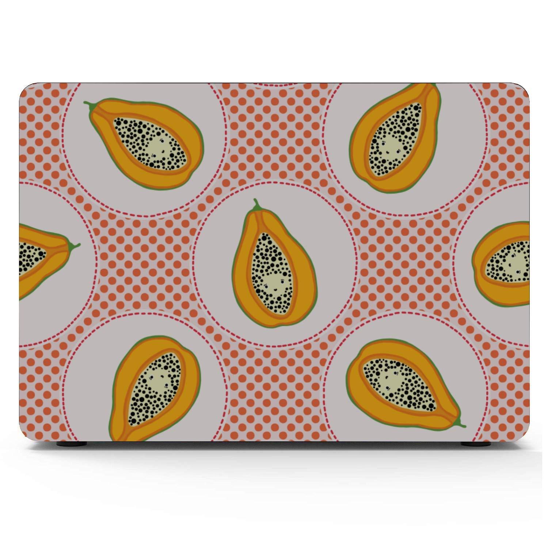 Cover for MacBook Air Summer Fashion Cool Fruit Papaya Plastic Hard Shell Compatible Mac Air 11 Pro 13 15 MacBook Pro 15in Case Protection for MacBook 2016-2019 Version
