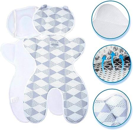 【Improv Mejora de la ventilación】 La estructura de panal en 3D crea un cojín transpirable entre el a