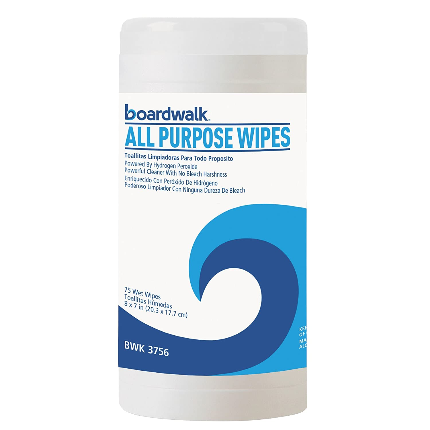 Amazon.com: Boardwalk 3756 Natural Multi-Purpose Hydrogen Peroxide Wipes, 7