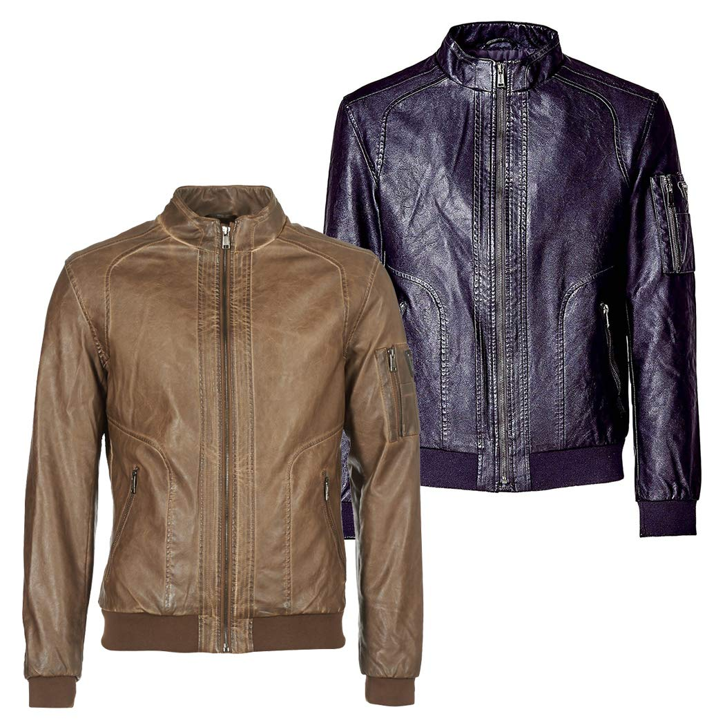 GUESS Giubbotti Garment Dye Eco-Leat, Chaqueta Bomber para Hombre: Amazon.es: Ropa y accesorios