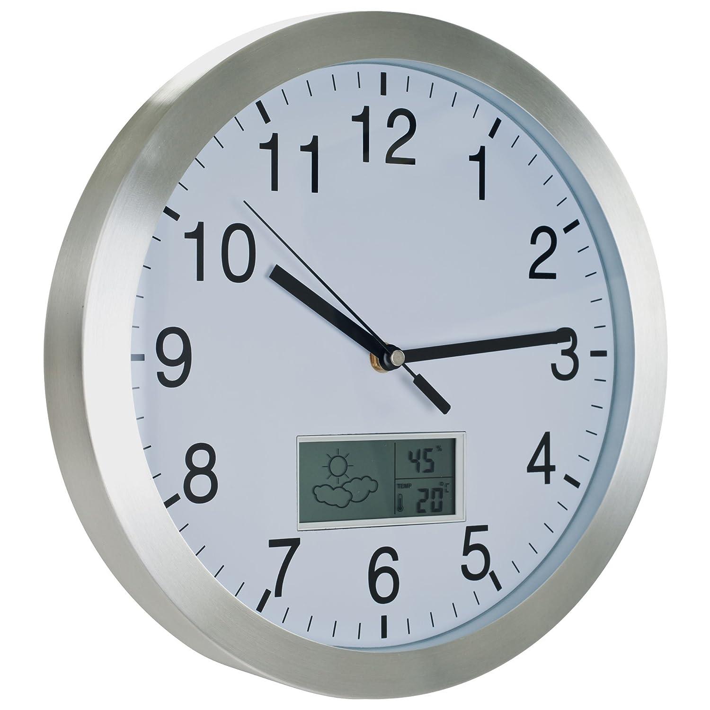Trademark Global 72-CW175 Aluminum Weather Forecast Wall Clock 12-Inch Trademark GLB