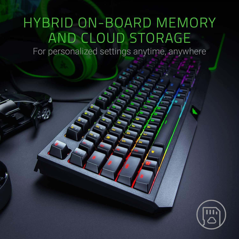 Black RGB Chroma Illuminated Razer BlackWidow Elite Fully programmable with Macro Keys UK Layout Tactile and Clicking Mechanical Gaming Keyboard Razer Green Switches