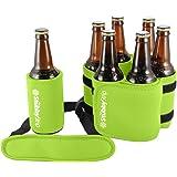 StubbyStrip Premium Portable Insulated Drink Carrier Neoprene 1-7 Bottle or Can Holder, Lime