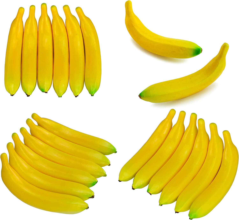 Kslogin Artificial Banana Fruit Lifelike Simulation Banana Set Fruits For Display Home Kitchen Decoration