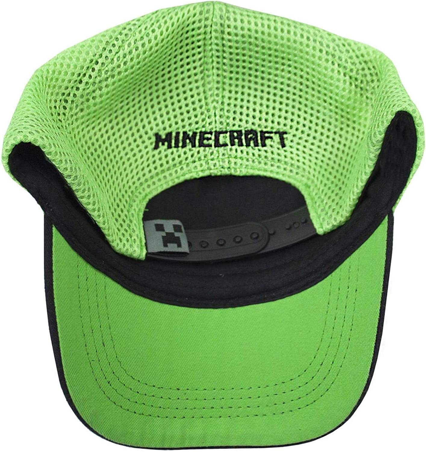 Vanilla Underground Minecraft Creeper Mesh Hat Boys//Youth Baseball Cap