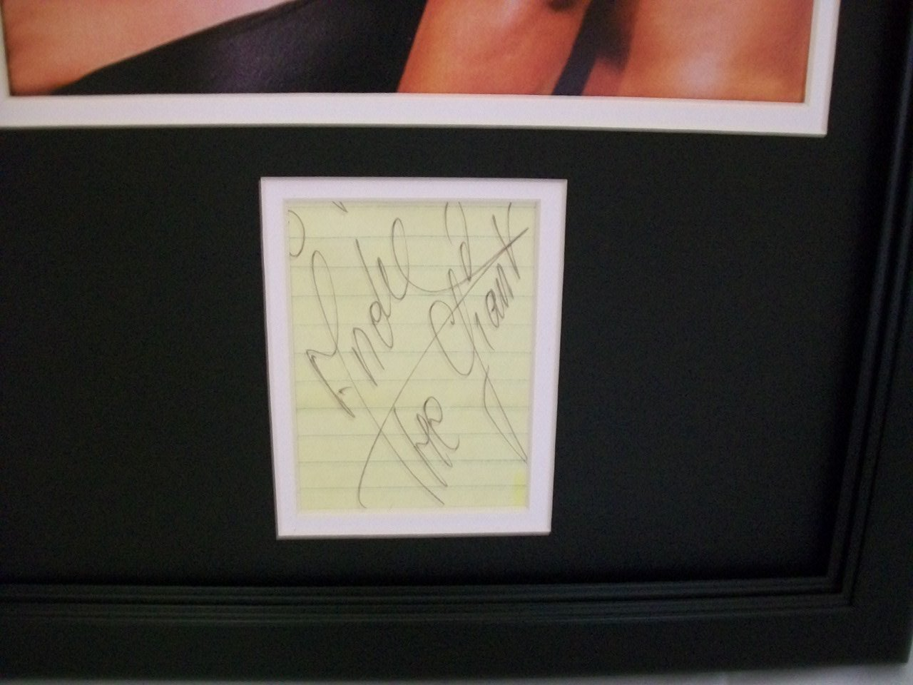 WWF Andre The Giant Autographed Reprint 8x10 Photo Vs. Hulk Hogan Framed Autographed Wrestling Photos