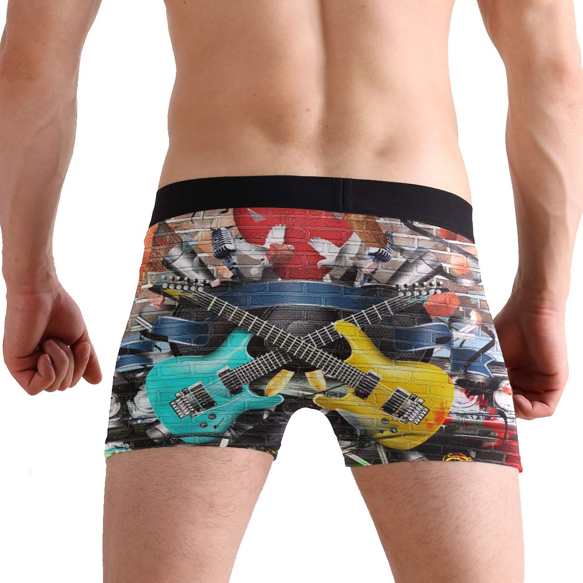 Wamika Color Guitar Men/'s Boxer Briefs Musical Underwear Stretchable S-XL
