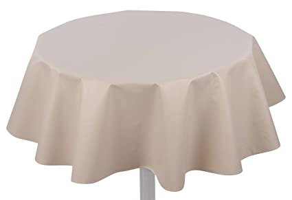 Beau Yourtablecloth Heavy Duty Flannel Backed Round Vinyl Tablecloth U2013 6 Gauge  Thickness, Water Resistant U0026