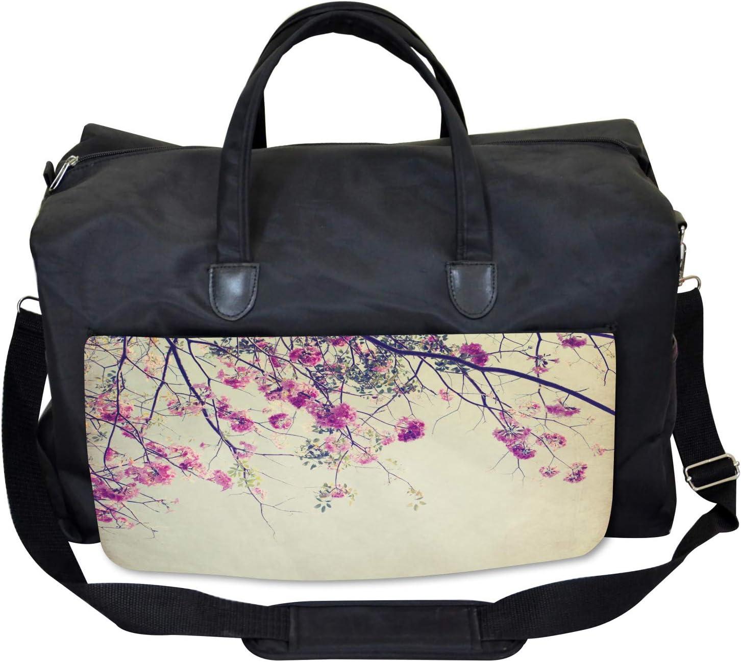 Sakura Cherry Blooms Ambesonne Nature Gym Bag Large Weekender Carry-on