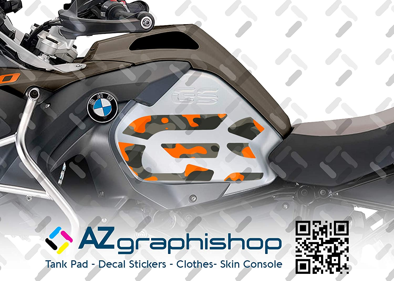 Kit X2 GS Camuflaje Adhesivo Lateral para Motocicleta BMW R 1200 GS ADV 2014-2018 ST-GS-R1200ADV-C Olive Green