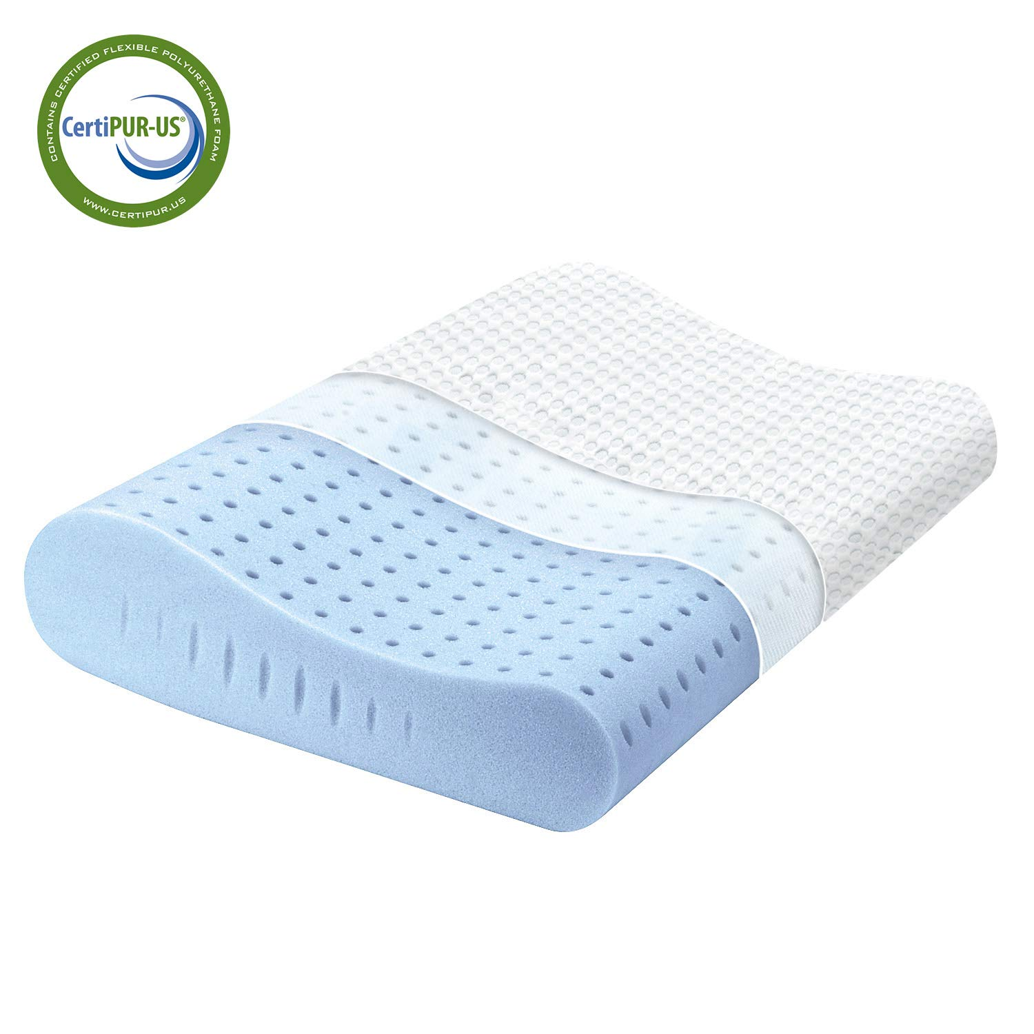 Milemont Memory Foam Pillow, Cervical Pillow for Neck Pain, Orthopedic Contour Pillow Support for Back, Stomach, Side Sleepers, Pillow for Sleeping, CertiPUR-US, Standard Size by Milemont