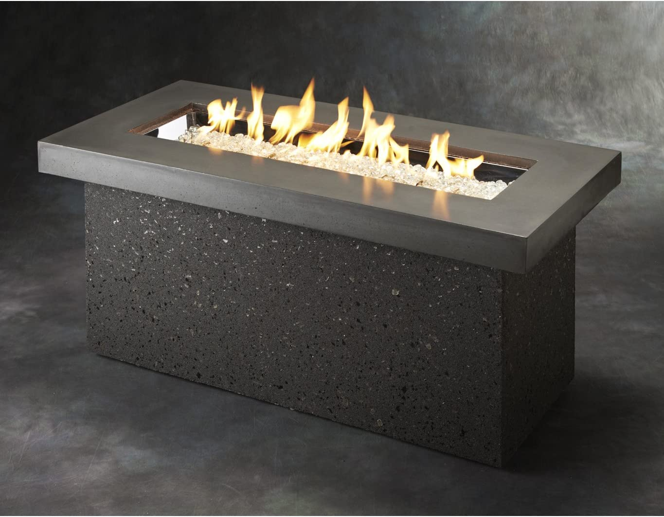 Outdoor Great Room Key Largo Fire Pit with Midnight Mist Top and Grey Base Multibox Kit