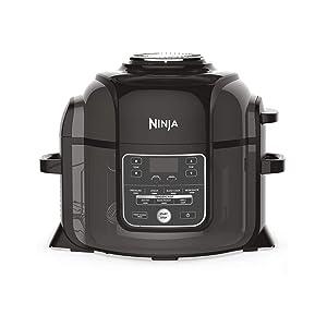 Ninja Foodi Multi-Cooker [OP300UK] Pressure Cooker and Air Fryer, Grey and Black