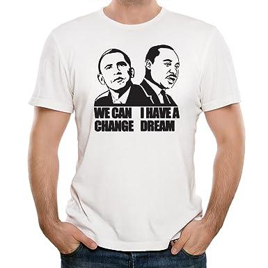 Obama And Martin Luther King Men S T Shirt Amazon Co Uk Clothing
