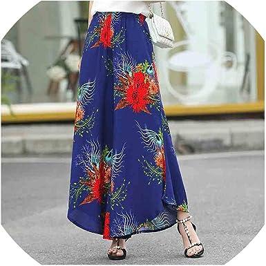 Pantalones De Verano Para Mujer Estampado Vintage Pantalones De Pierna Media Ancha X Large Amazon Es Ropa Y Accesorios