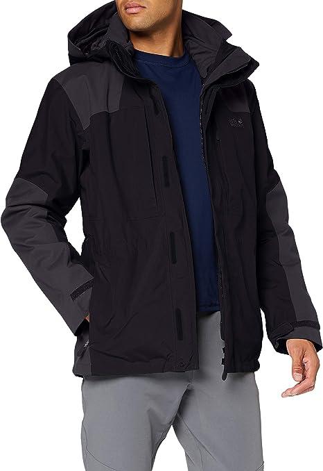 Jack Wolfskin 3 in 1 outdoor jas Thorvald zwart | wehkamp