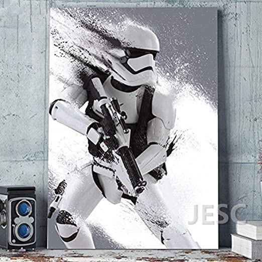 Star Wars Storm Trooper Large Poster Art Print Black /& White in Card or Canvas