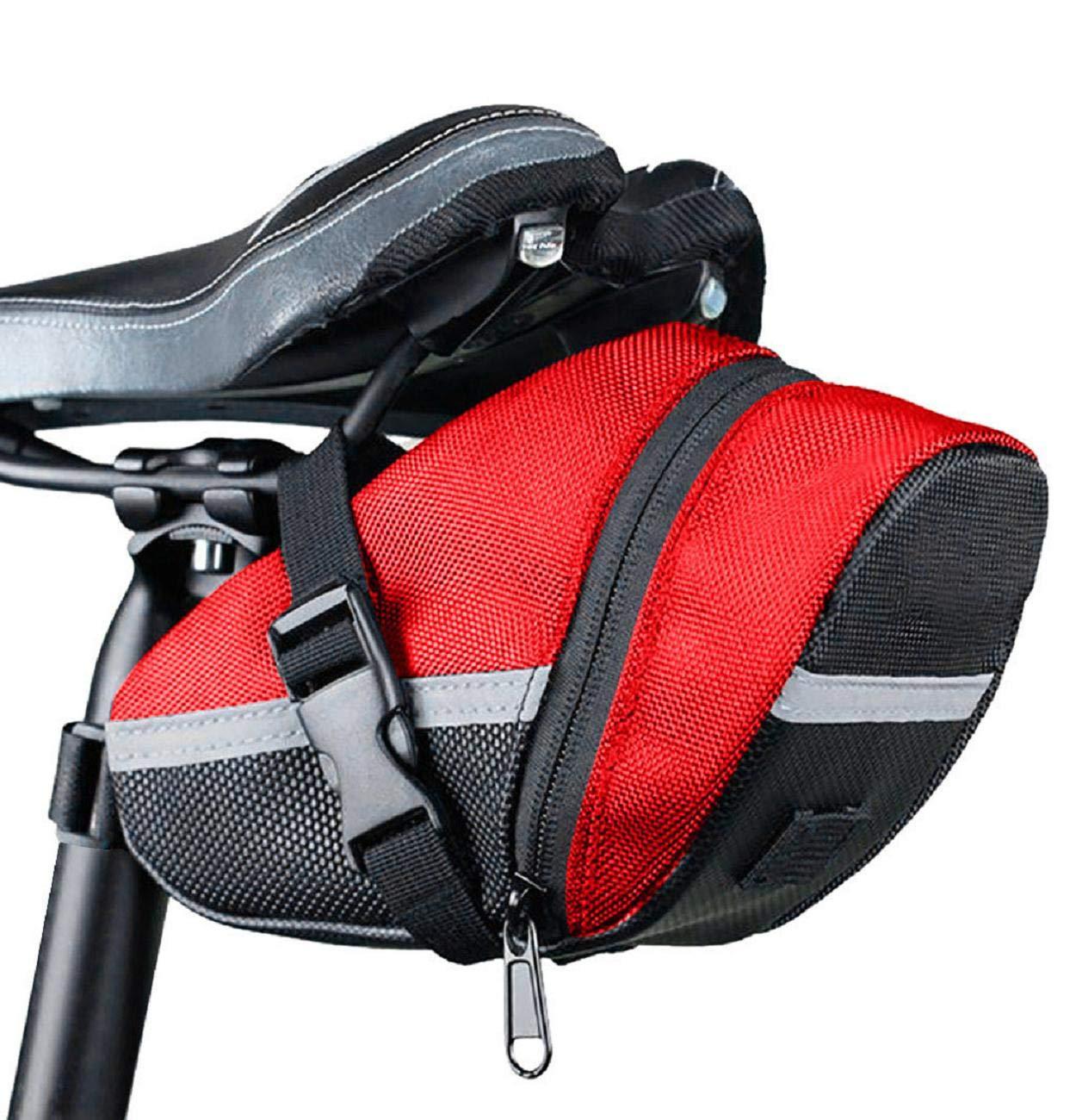 Bike Seat Saddle Wedge Pack Pannier Storage Bag Mountain Road MTB Pocket