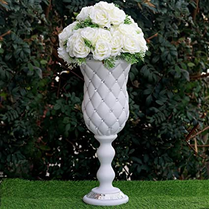 Amazon Balsacircle 6 Pcs 24 Tall White Vases Crystal Beads