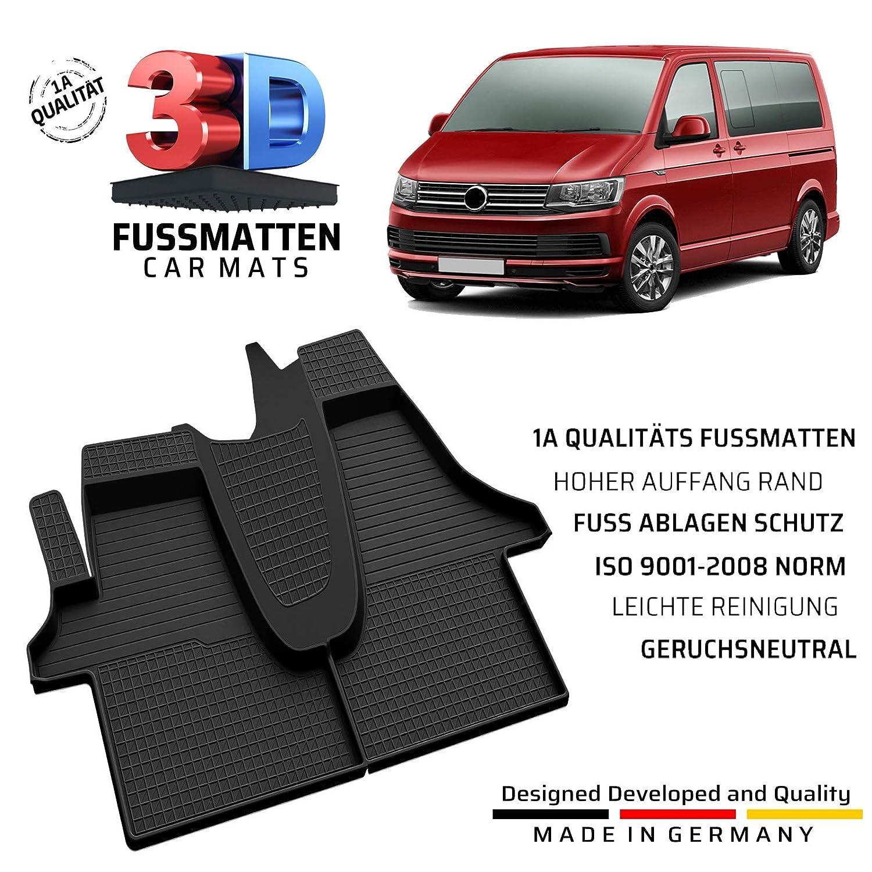 fussmattenprofi.com Tapis de Sol en Caoutchouc de qualit/é dorigine pour VW T6 /à partir de 2015