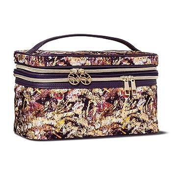 Amazon Com Sonia Kashuk Cosmetic Bag Double Zip Train Case