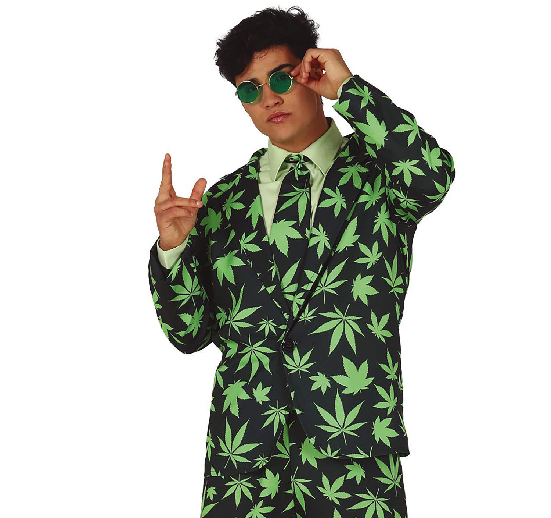 Fiestas Guirca Traje de Hombre cáñamo Mr. Cannabis Disfraz ...