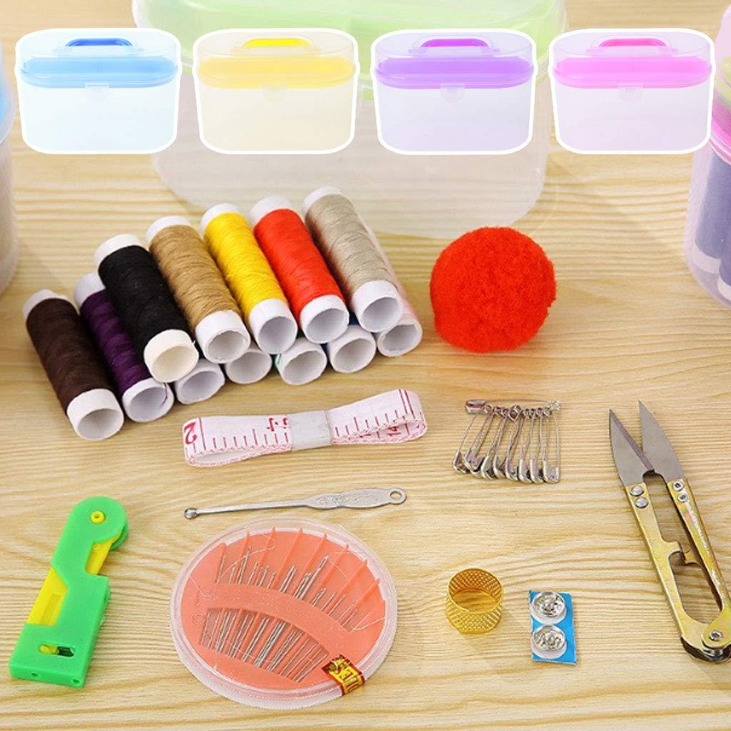 Ncbvixsw kit da cucito scatola porta attrezzi ago filo forbici contenitore medicina
