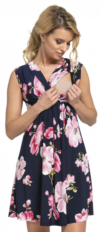 Zeta Ville - Premamá Vestido de Lactancia Efecto 2 en 1 Capa - para Mujer - 808c product image