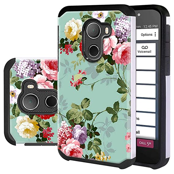 best website e7ff3 bab6e Jitterbug Smart 2 Case, Lacass Shock Absorbing Tough Rugged Protection Dual  Layer Protector Hybrid Case Cover for Jitterbug Smart2 (Peony)
