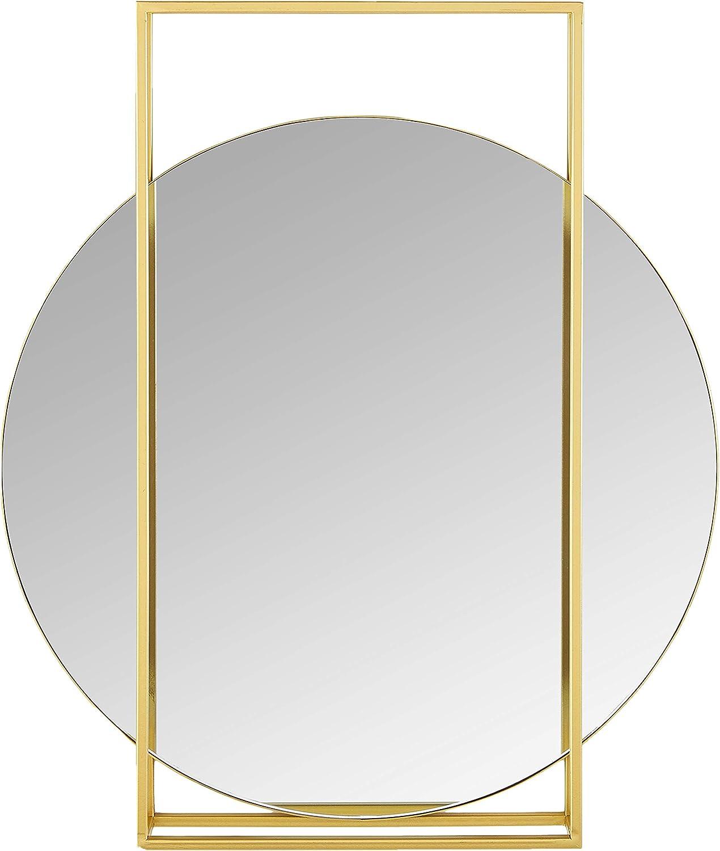 Rivet Modern Geometric Framed Hanging Mirror, 23.75