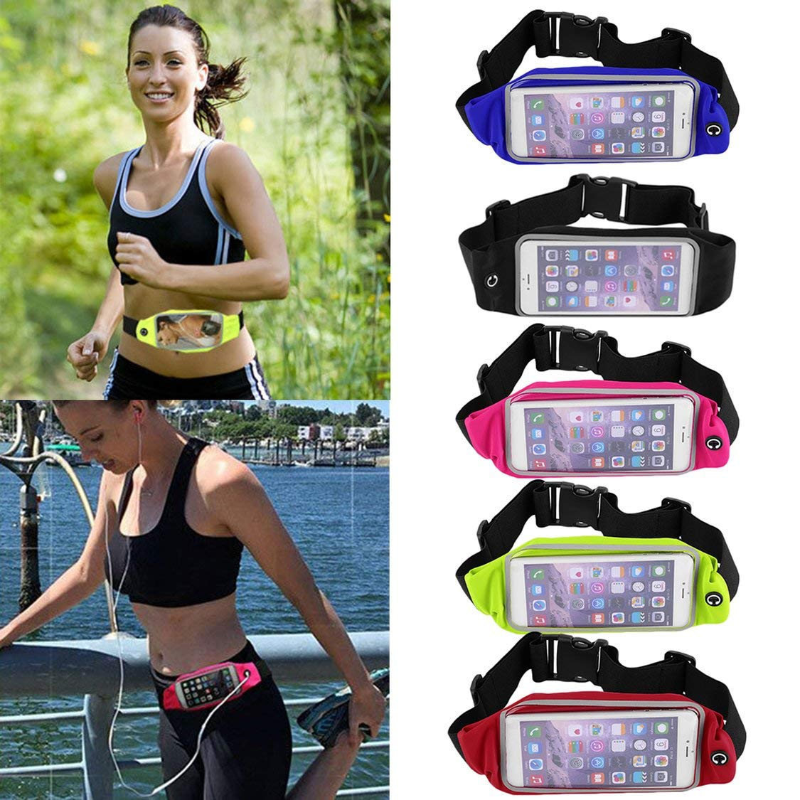 Waterproof Waist Travel Sport Running Belt Money Wallet Pouch For iPhone 6 Plus 5.5 Sports Pack Hiking Leisure Mini Zip Bag