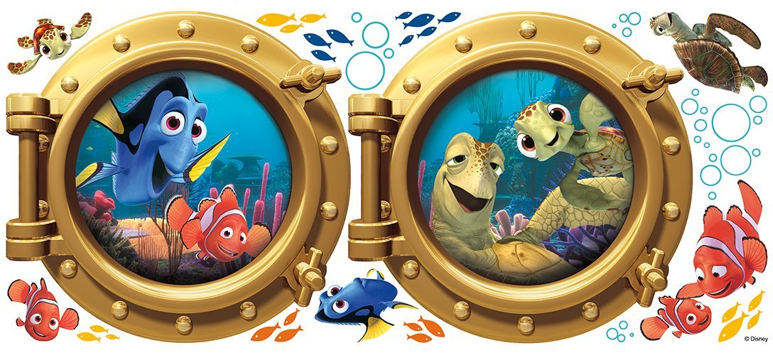 Roommates Rmk2060Gm Finding Nemo Peel And Stick Giant Wall Decals by RoomMates