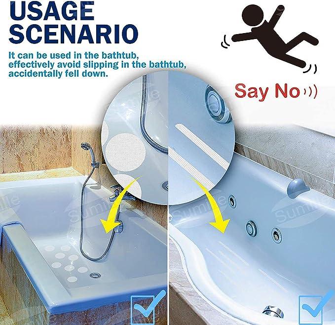 12st Anti-rutsch-Streifen Aufkleber Anti Slip Grip Aufkleber Transparent F/ür Bad Dusche Badewanne Nichtrutschstreifen-Auflage F/ür Badezimmer