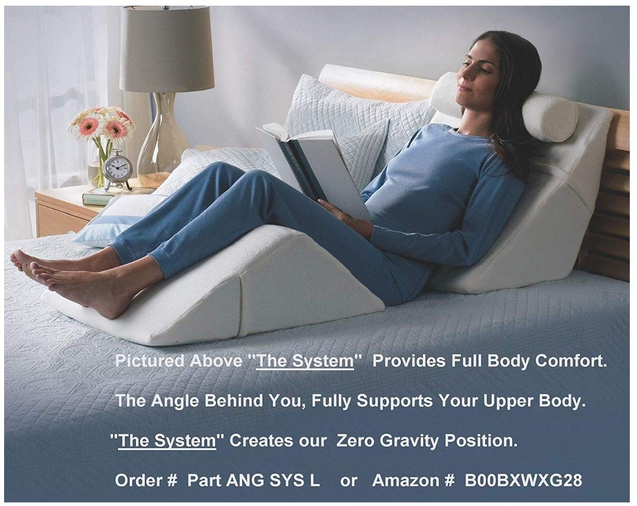 The Angle by Back Support Systems - Guaranteed to Help Reduce Back Pain Immediately. Eco Friendly, Medical Quality Memory Foam Bed Wedge Leg Pillow for Reducing Back Pain, Back Therapy and Sleeping by Back Support Systems (Image #8)