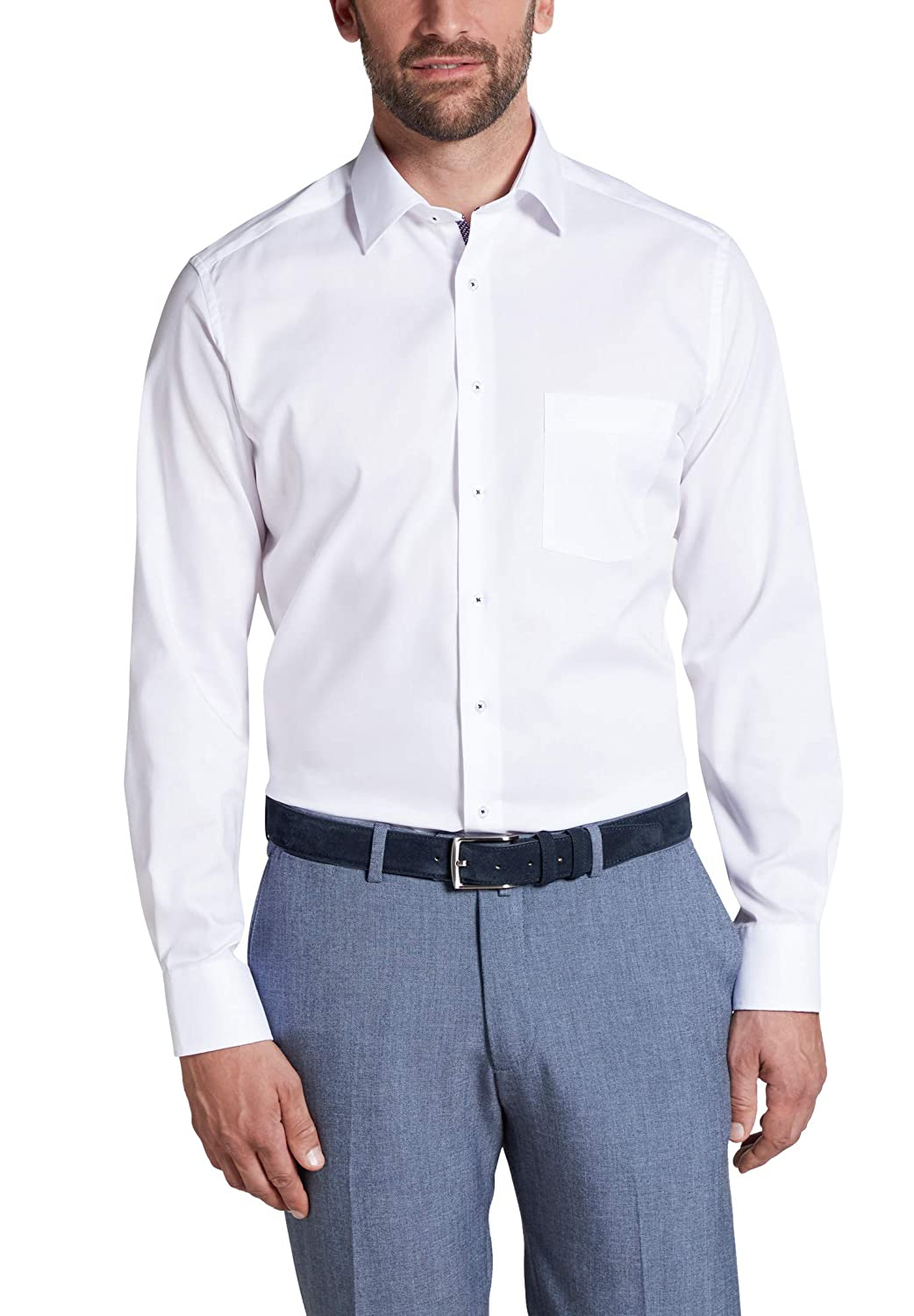 Eterna Long Sleeve Shirt Modern Fit Pinpoint Uni