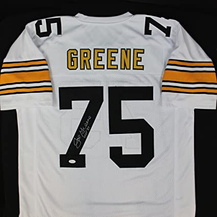 471c428c2 Joe Greene Autographed White Pittsburgh Steelers Jersey - Hand Signed By Joe  Greene and Certified Authentic