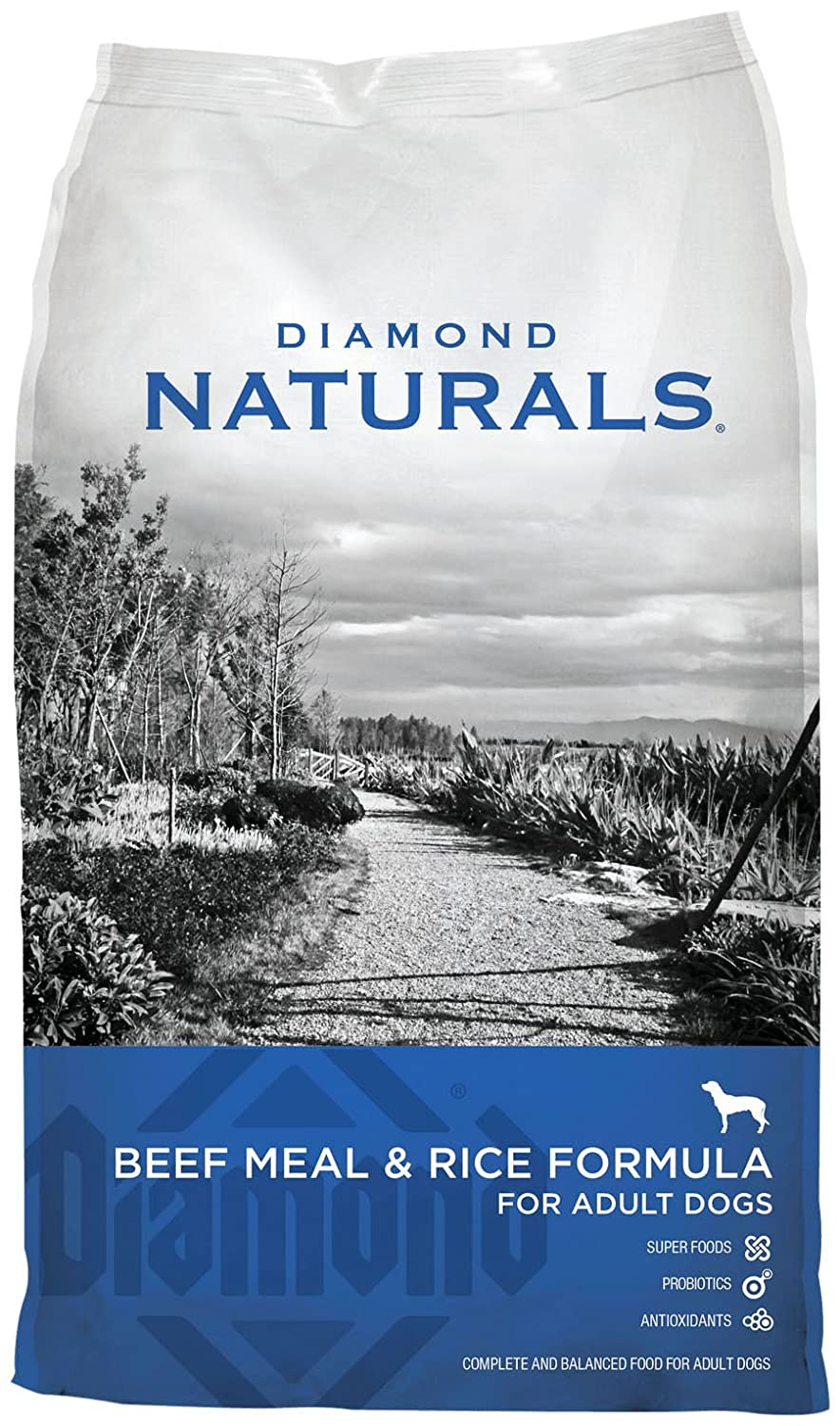Diamond Naturals Beef and Rice Formula Dry Dog Food for Adult Dogs
