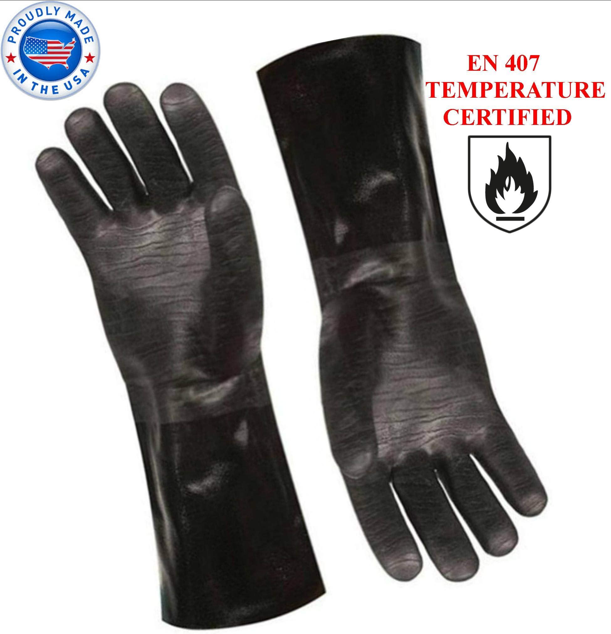 Artisan Griller BBQ Heat Resistant Insulated Smoker, Grill, Fryer, Oven, Brewing, Cooking Gloves. Great for Barbecue/Frying/Grilling - Waterproof, Fire&Oil Resistant Neoprene-1 Pair Size 10/XL-14 by ARTISAN GRILLER REDEFINING OUTDOOR COOKING