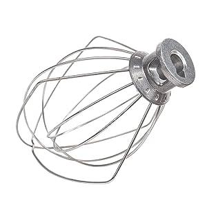 6 Wire Whip Attachment 4.5 QT for KitchenAid K45WW WP9704329 KSM150 KSM160 K45 KSM90 KSM100,Stainless Steel, Egg Heavy Cream Beatersk