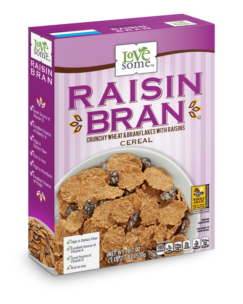 LoveSome Raisin Bran, 18.7 Ounce (Pack of 12)