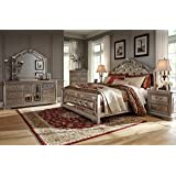 Ashley Birlanny Mirrored Panel Bedroom Set   Queen, King Or Cal King   5 Pc