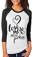 Asher's Apparel Love More & Live Fearless | Women's Christian Raglan Shirt