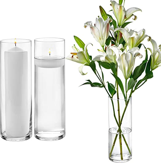 NEW 20 bulk Cylinder Vases Wedding Glass Table Centerpiece Candle holders