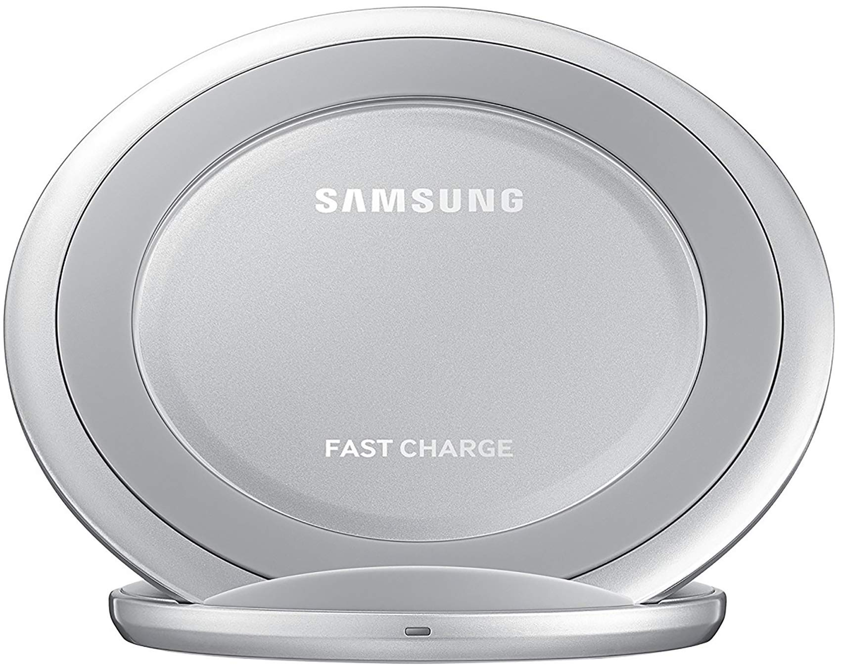 Samsung Qi Certified Fast Charge Wireless Charging Pad + Stand - Supports wireless charging on Qi compatible smartphones - Silver by Samsung