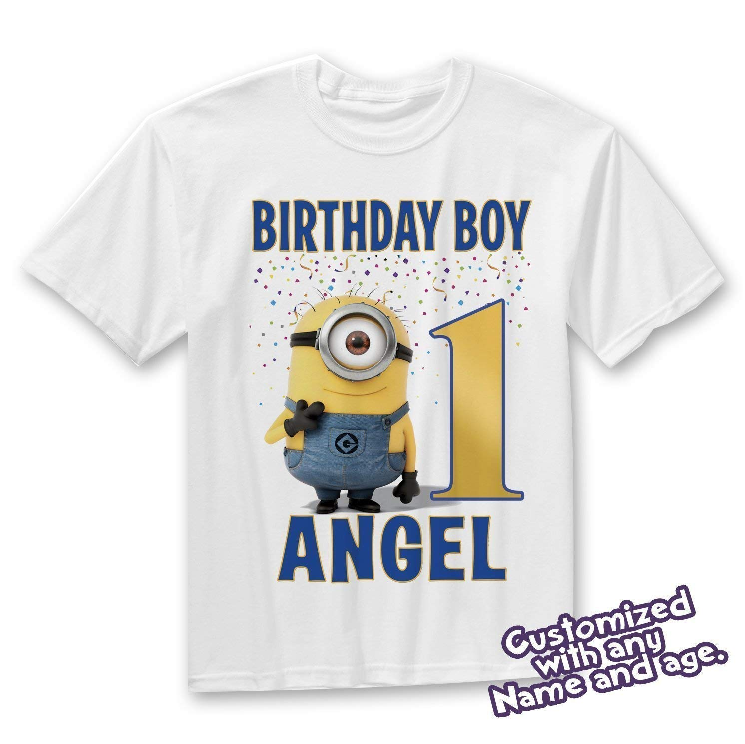Amazon Customized Minions Birthday Shirt Add Name Age Personalized T Handmade